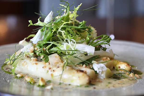 Celebrating White Asparagus at NINE-TEN Restaurant