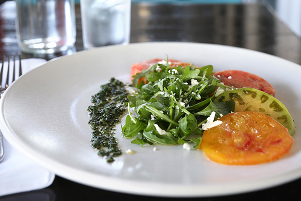 Heirloom Tomato and Watermelon Salad at Beaumont's Eatery
