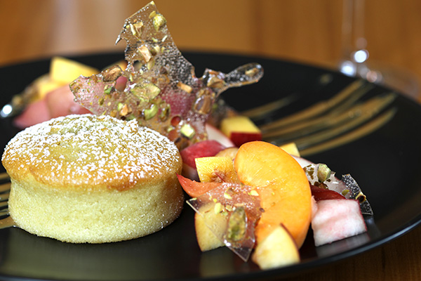 Olive Oil Cake with Local Stone Fruit at Kitchen 1540