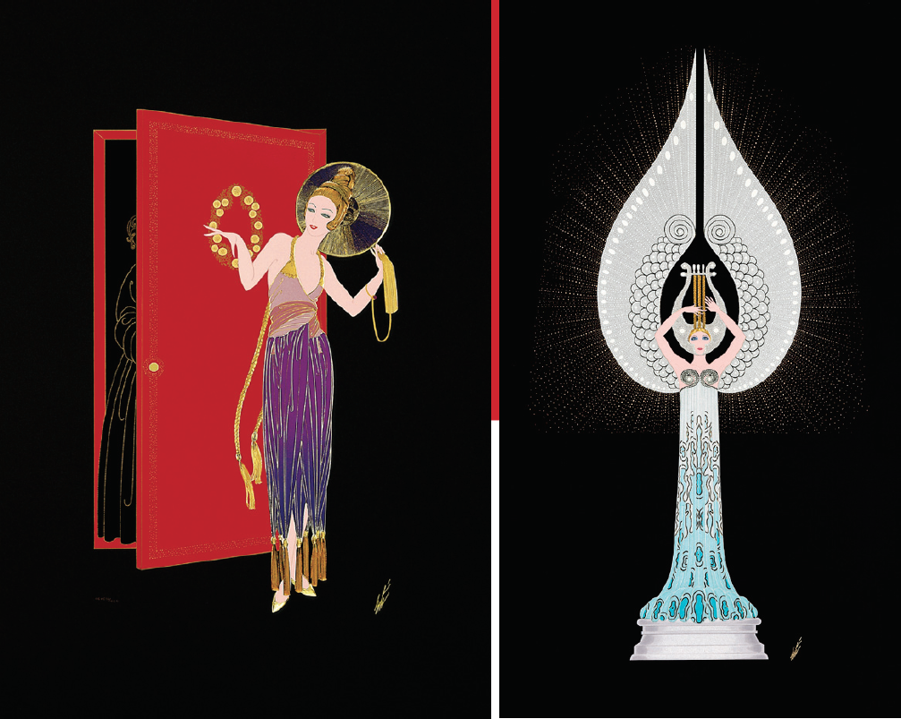 Works of Erte at Martin Lawrence Galleries