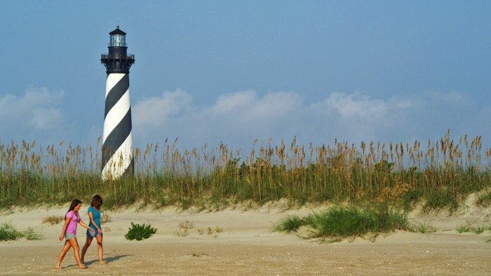 Cape Hatteras Lighthouse – Built in 1870, the Cape Hatteras Lighthouse has stood for generations as a source of inspiration and symbol of strength, presiding over the pristine shoreline of the Outer Banks of North Carolina.