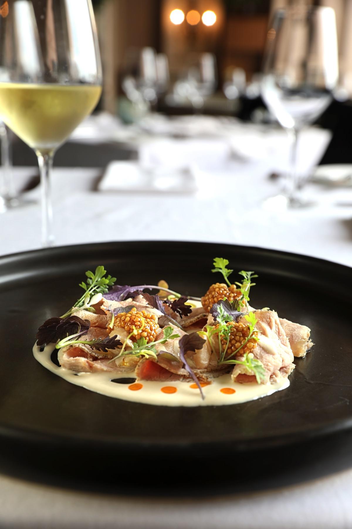 Iberico Pork Loin + White Beans at THE MED Oceanview Restaurant