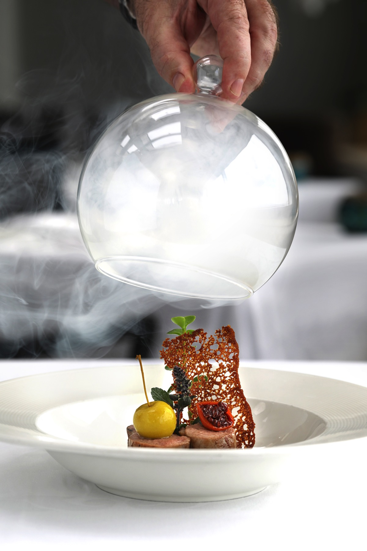 Star Anise Oak Wood Smoked Mary's Duck at The Marine Room
