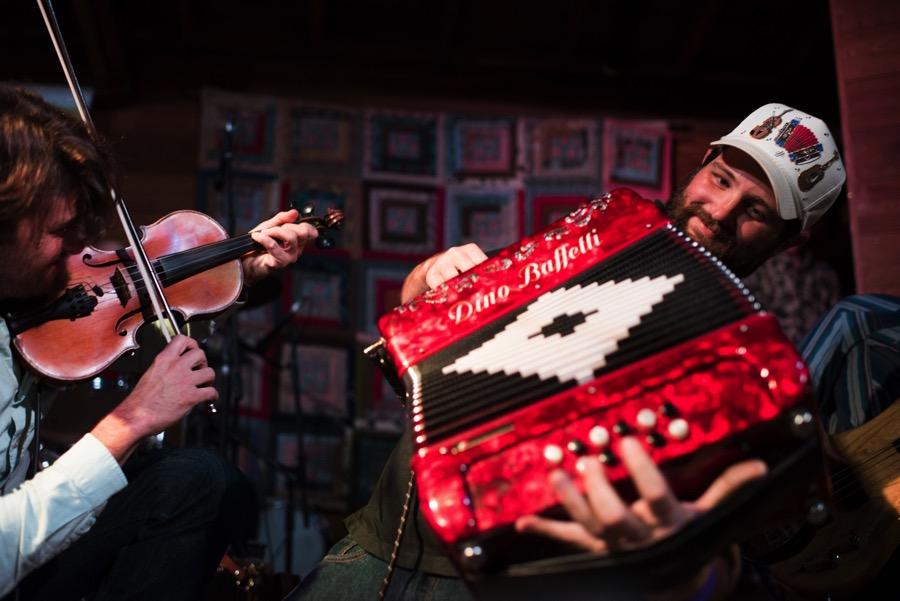 JO VIDRINE/LAFAYETTE TRAVEL  |  Lafayette Cajun music band The Revelers at Blackpot Festival.