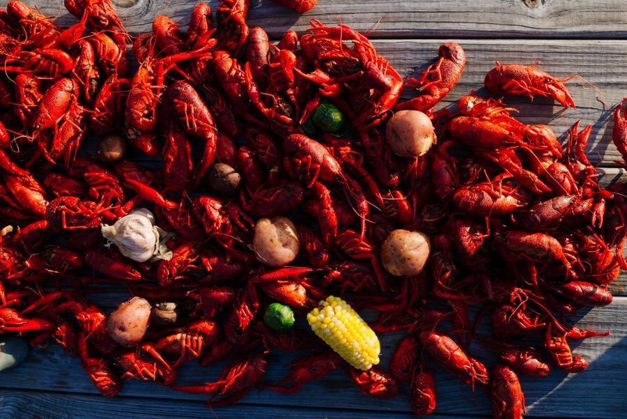 DENNY CULBERT/LAFAYETTE TRAVEL     Nothing tastes more like Louisiana than boiled crawfish!