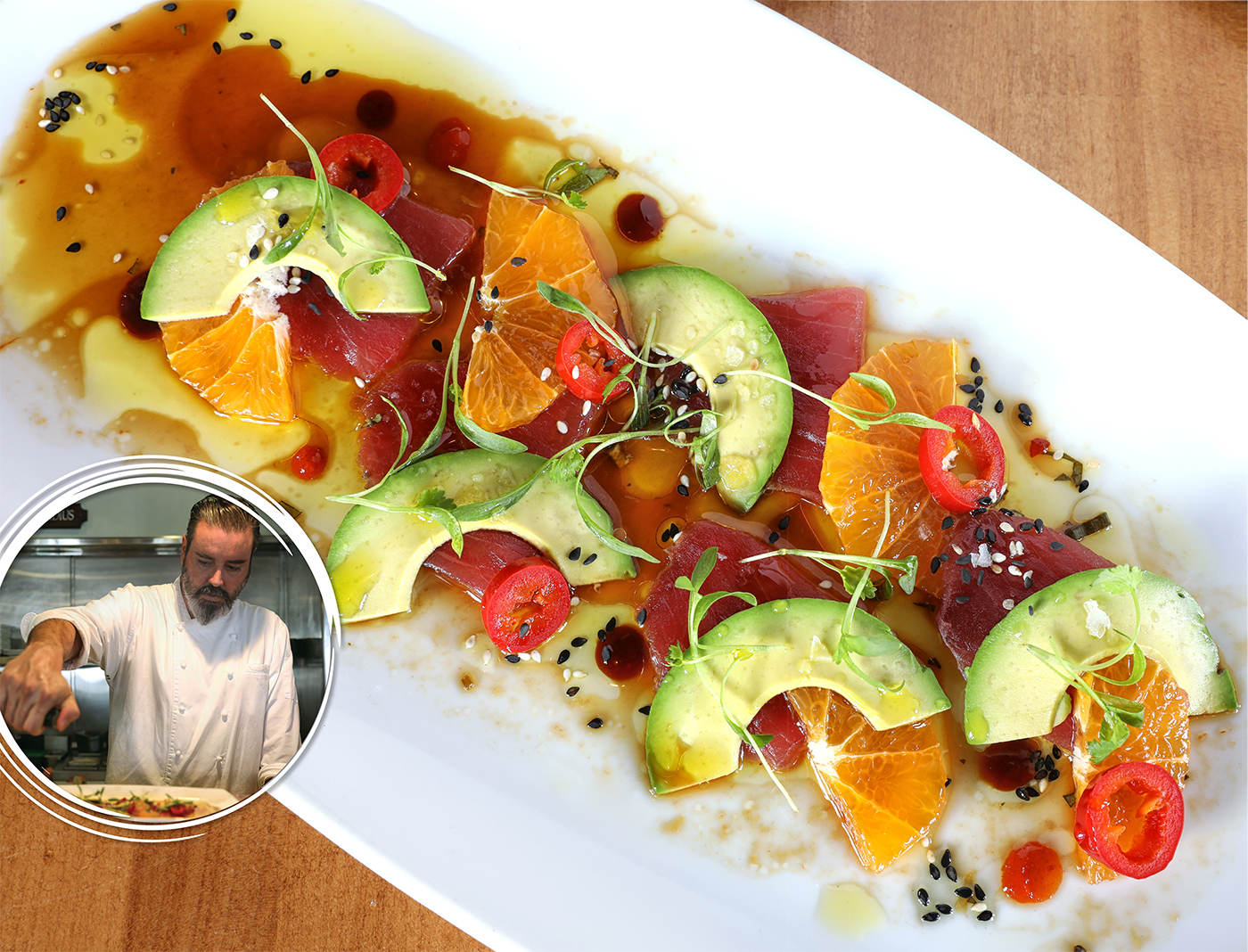 Tuna Crudo from Paul Arias, Executive Chef at The Fishery