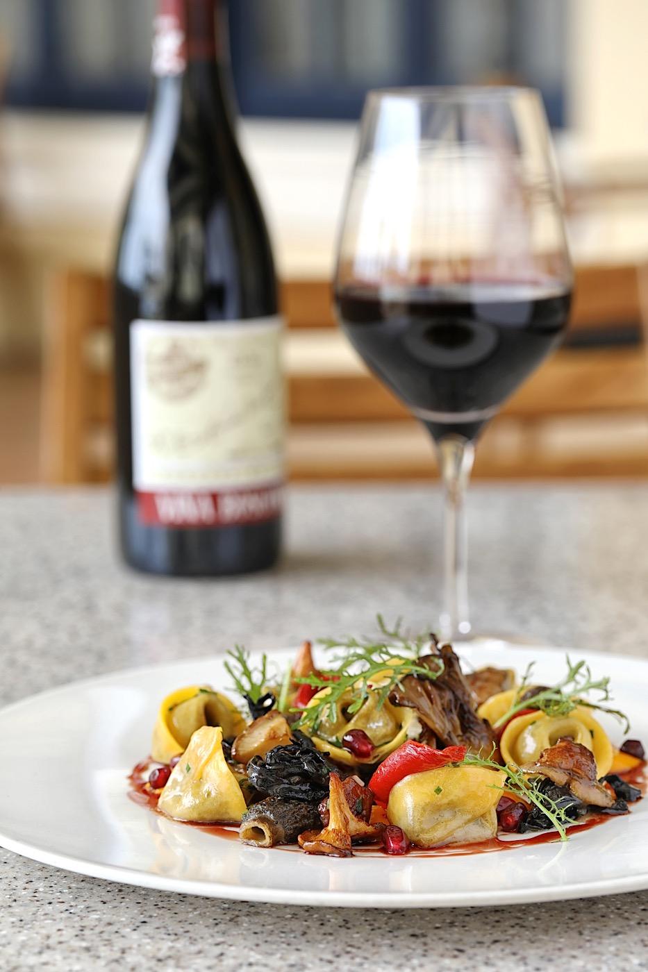 Mushroom Tortellini with 2007 Lopez de Heredia Vina Bosconia Reserva at NINE-TEN Restaurant & Bar