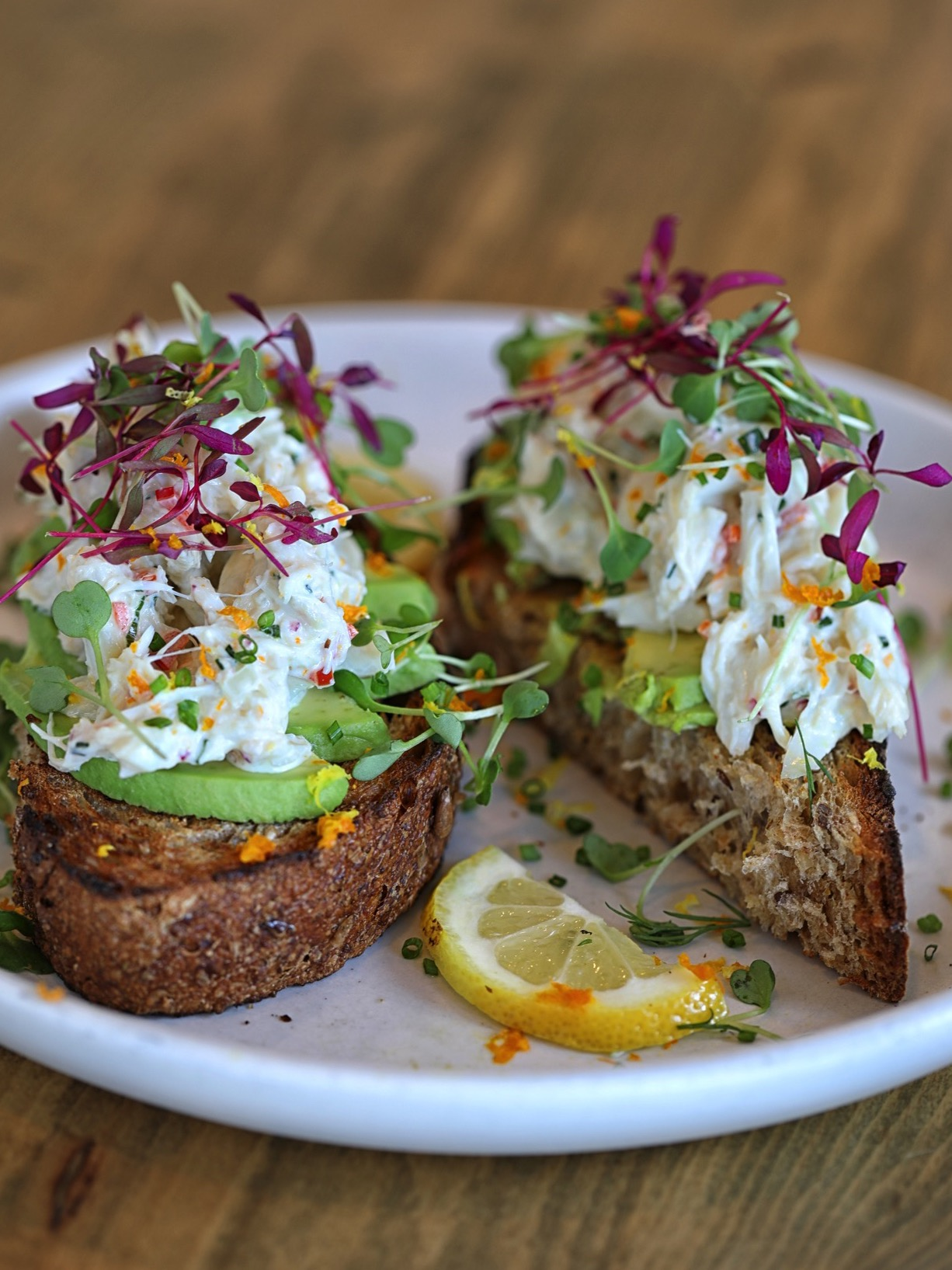 Brockton Villa's California Crab Avocado Toast