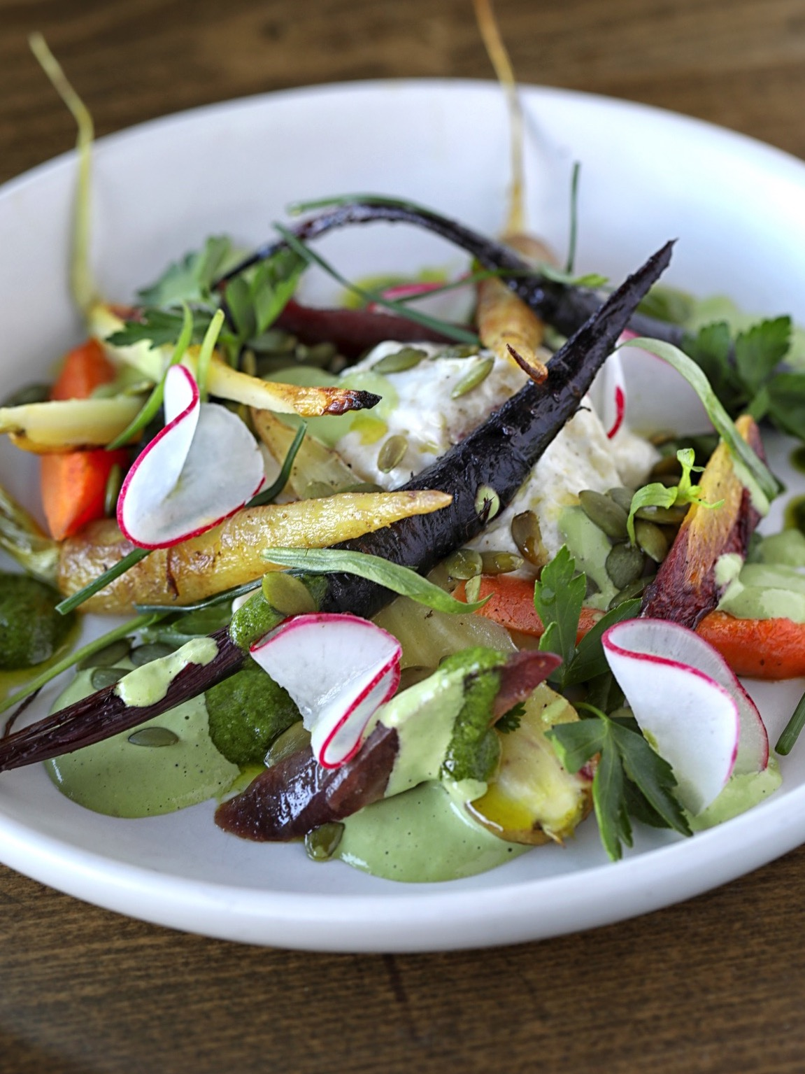 Roasted Heirloom Carrot Salad at Beaumont's Eatery