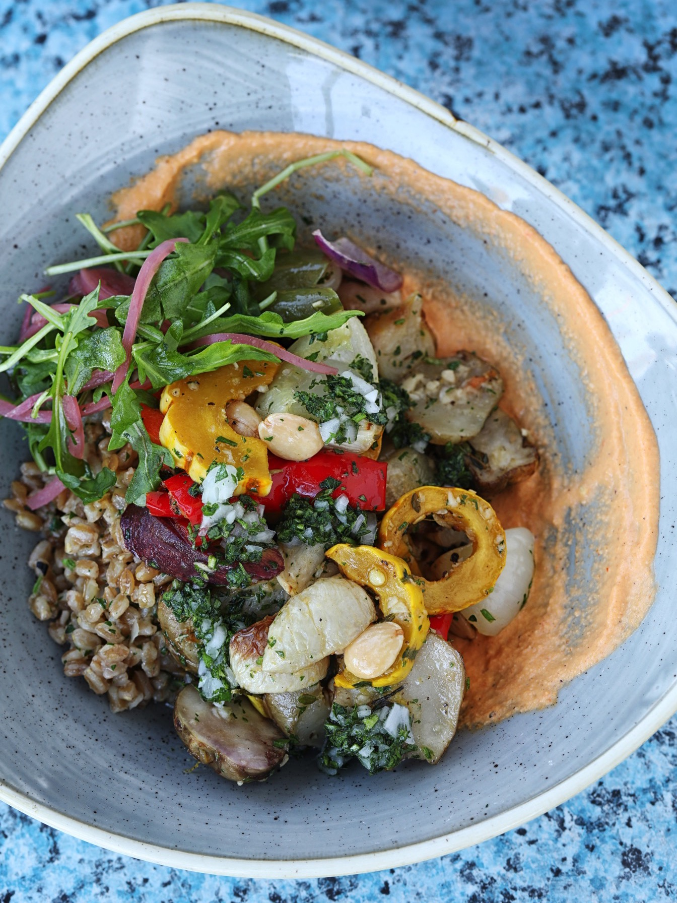 The Fishery's Roasted Seasonal Vegetables with Ancient Grains