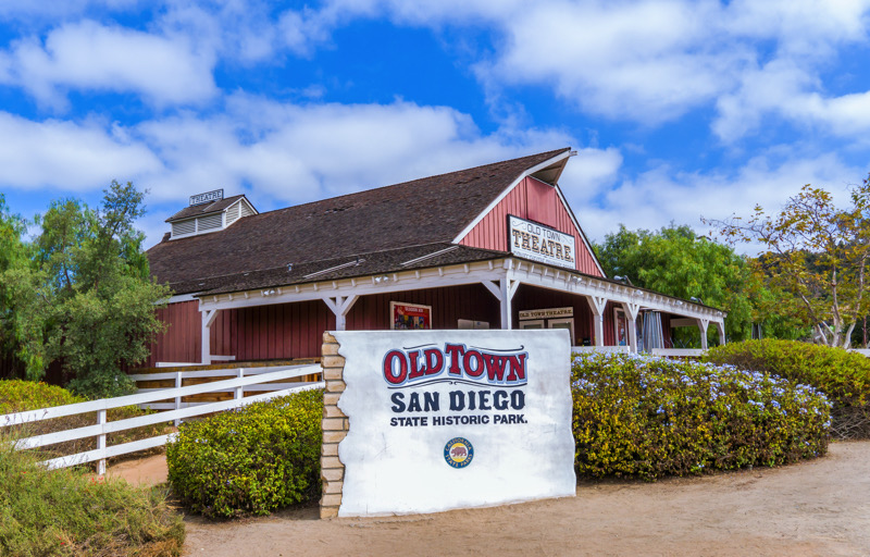 Old Town Theatre in Old Town San Diego State Historic Park | Ken Wolter - Shutterstock.com