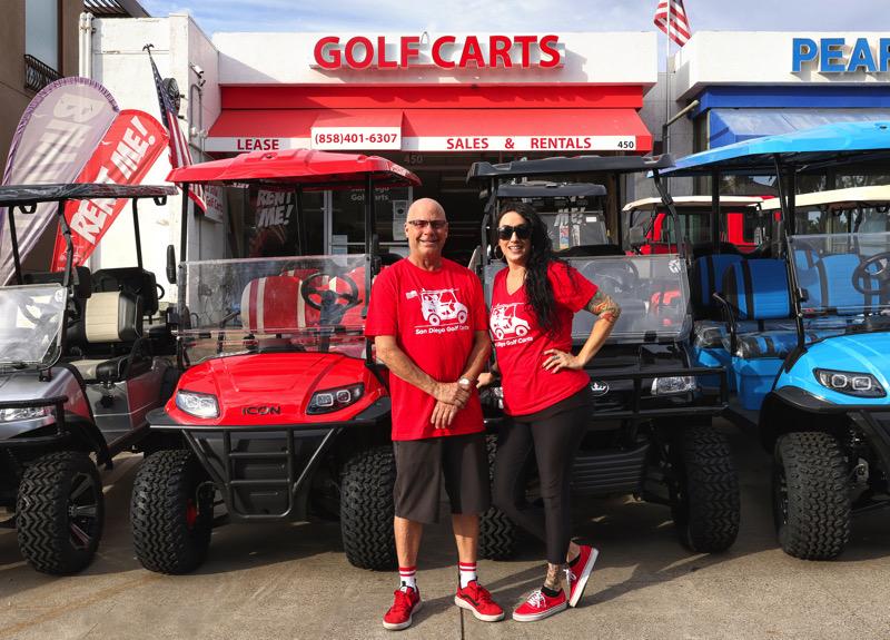 Robert Mackey & Fracesca Canales at San Diego Golf Carts Sales and Rentals
