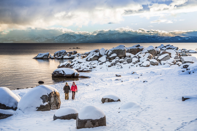 A snowy North Lake Tahoe beach walk  | courtesy of North Lake Tahoe