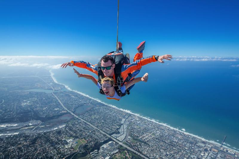 A GoJump Oceanside tandem skydive
