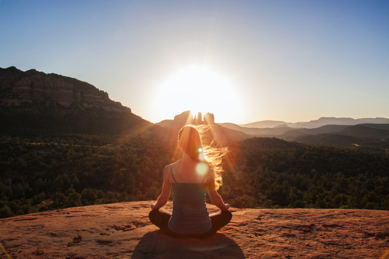 Absorbing the aura of Capitol Butte, one of Sedona's most notable  red rock formations     Sedona Chamber of Commerce & Tourism Bureau