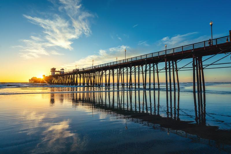 Oceanside Pier at sunset