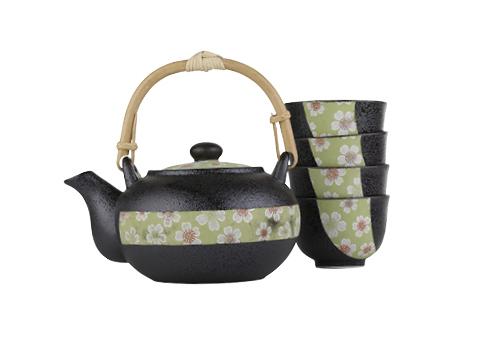 Tea pot and 4 cups, $60 Point Loma Tea, Point Loma