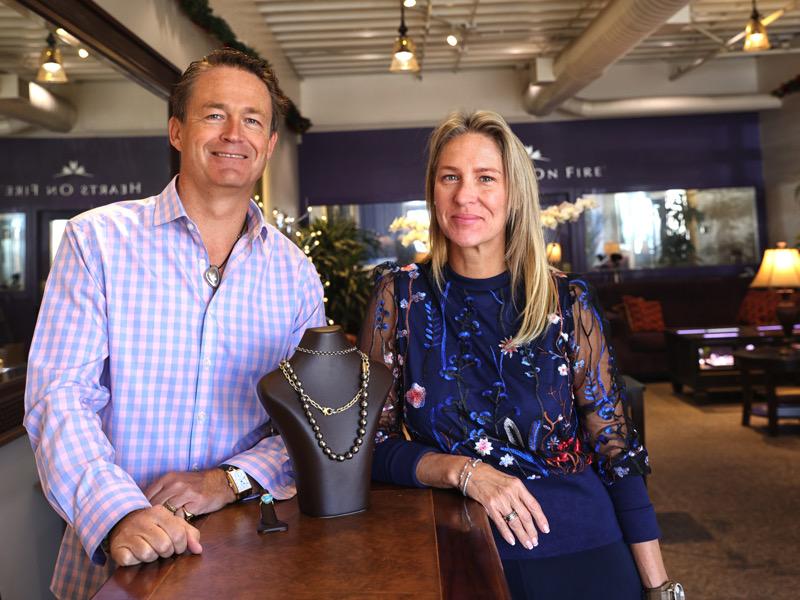 Janna and Tim Jackson at  Passion Fine Jewelry