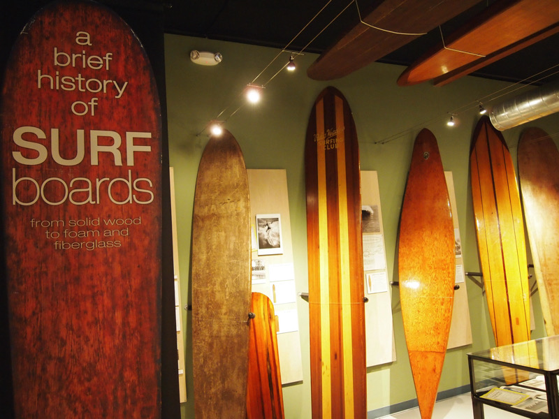 A display at California Surf Museum